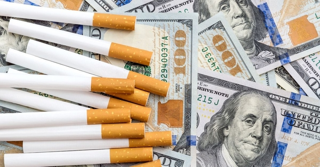 cigarettes and money