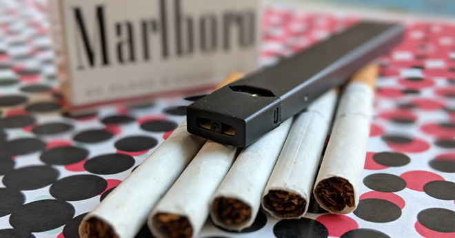 juul and cigarettes