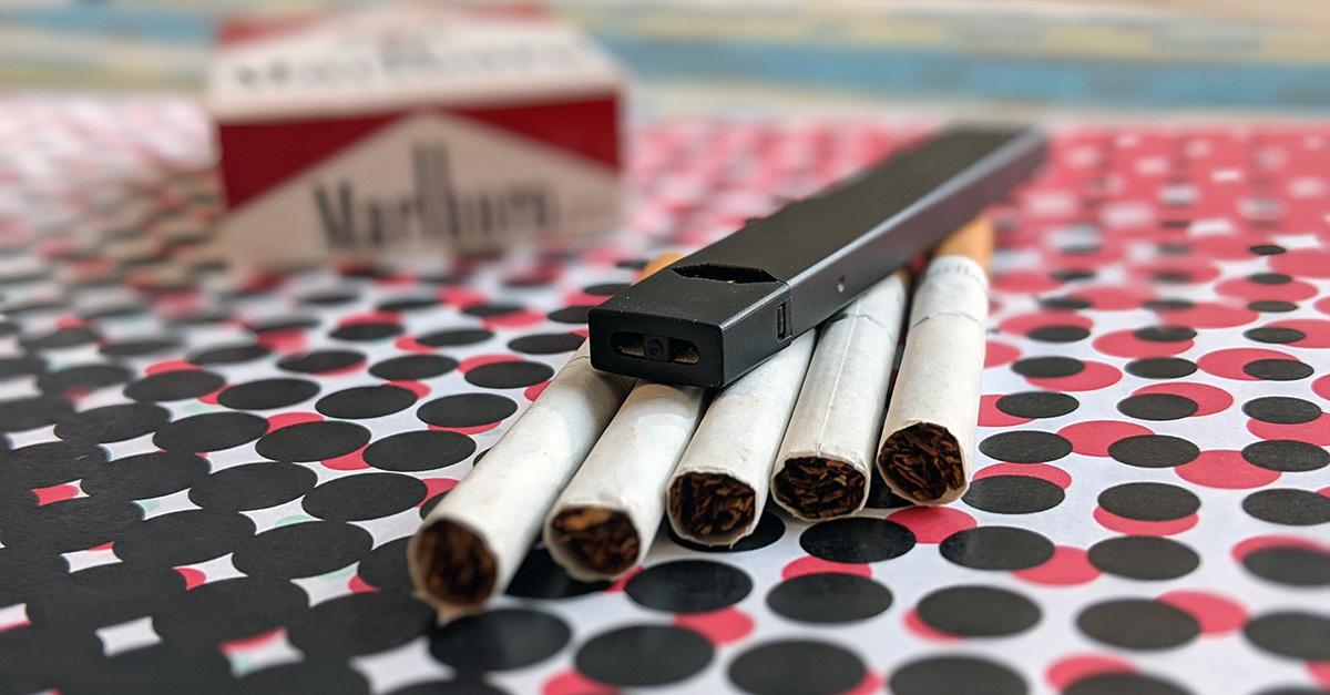 JUUL and Marlboro Cigarettes
